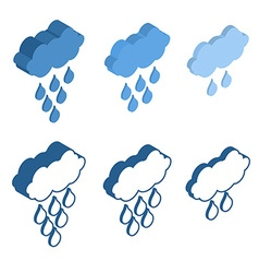 Cloud isometric icon for meteo applications vector