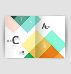 Colorful modern stripes business flyer vector