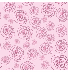 cute pink floral seamless pattern vector image