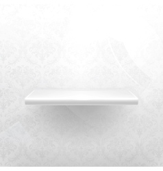 Empty shelf white luxury vector image vector image