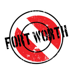 Fort worth rubber stamp vector