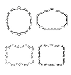 Frame labels Set ornamental vintage decoration vector image vector image