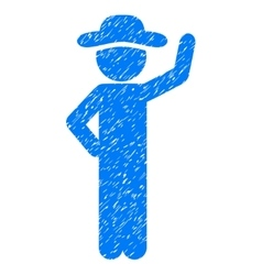 Gentleman assurance grainy texture icon vector