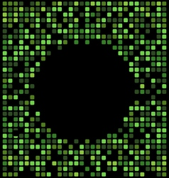 Green color pixel background black copy space vector