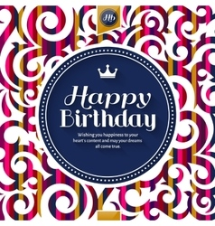 Happy birthday greeting card lettering on vector