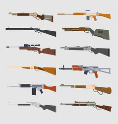 Machine guns set vector
