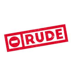 Rude rubber stamp vector