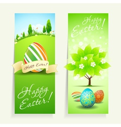 Set of Two Easter Cards vector image
