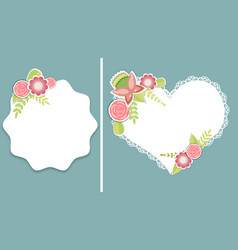 set of two templates for weddingbirthday vector image vector image