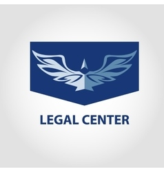 Template logo for legal notary vector