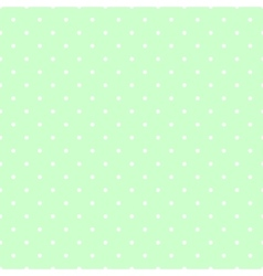 Tile pattern white polka dots on mint green vector