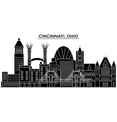 usa cincinnati ohio architecture city vector image