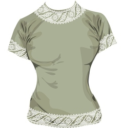 Woman ancient tee vector image vector image