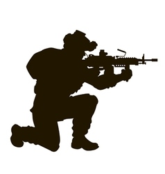 modern soldier vector image