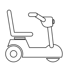 Isolated wheelchair for disabled people design vector
