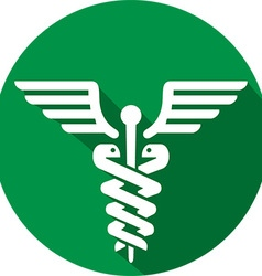 Caduceus medical icon vector