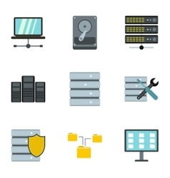 Computer repair icons set flat style vector