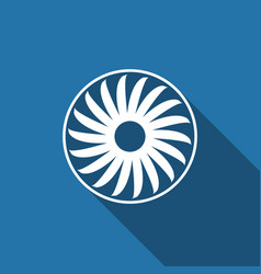 ventilation sign icon ventilator symbol flat icon vector image