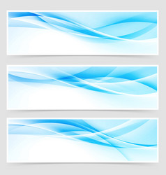 bright blue abstract swoosh modern line header vector image