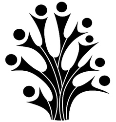 Family tree symbol vector