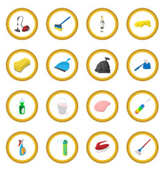 Cleaning cartoon icon circle vector