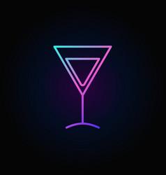 Colorful martini glass icon vector