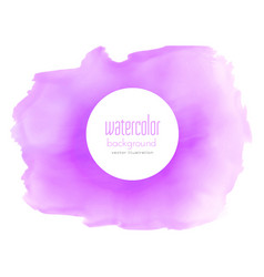 Purple watercolor stain texture background vector