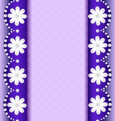 background with flowers of pearl vector image