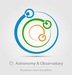 Astronomy and observatory business icon vector