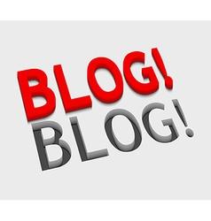 3d blog text design vector image vector image