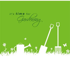 Its time for gardening spring gardening background vector