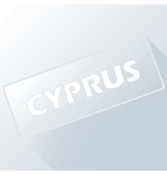 Cyprus unique button vector