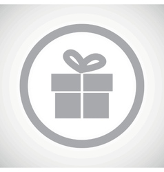 Grey gift sign icon vector