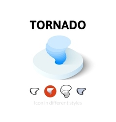 Tornado icon in different style vector