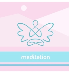 Symbol of yoga meditation spirituality vector