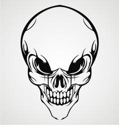 Abstract skull face vector