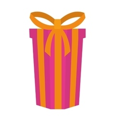Big gift box present ribbon vector