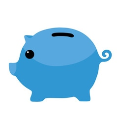 Blue Piggybank Clipart vector image