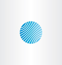 business logo blue globe vector image