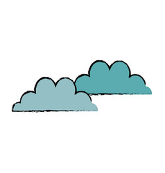 cloud climate weather sky image vector image