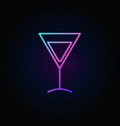 Colorful martini glass icon vector