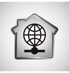 computer data protection globe icon vector image