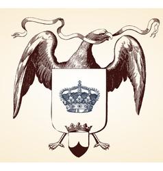 Eagle insignia vector image