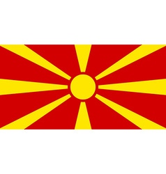 Flag of macedonia vector