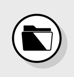 Folder sign flat black icon vector