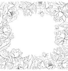 Frame of Peony vector image vector image