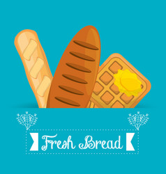 Fresh bread organic food image vector