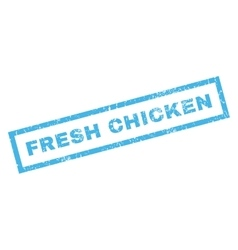Fresh Chicken Rubber Stamp vector image