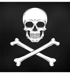 Human evil skull jolly roger with vector