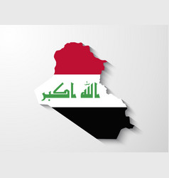 Iraq map with shadow effect presentation vector